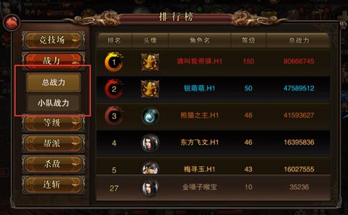 江湖百晓生 揭秘《仗剑天涯》排行榜